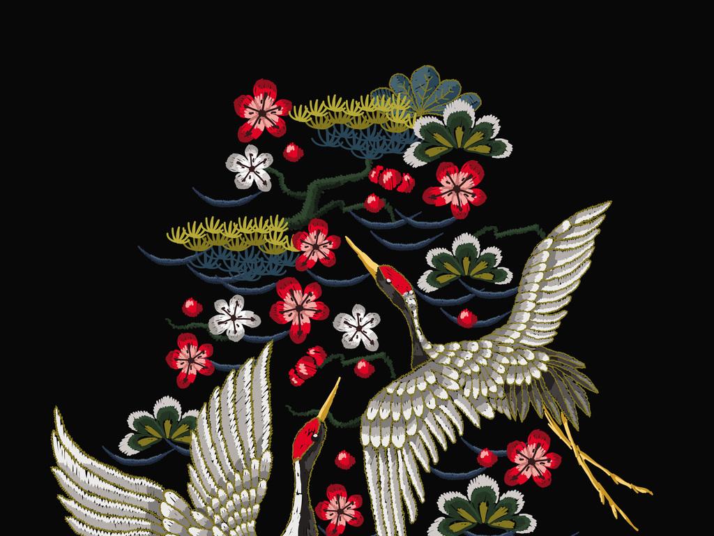 中国风动物线描logo