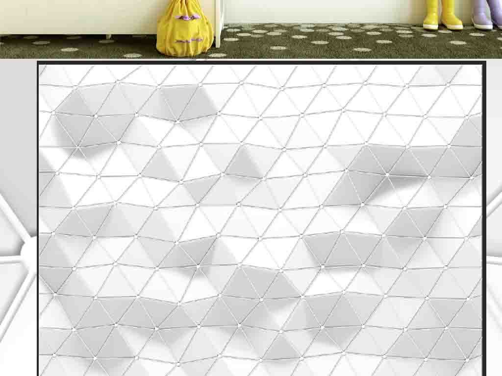 象几何墙纸北欧ins创意网咖ktv办公室公司背景墙壁纸图片设计素材