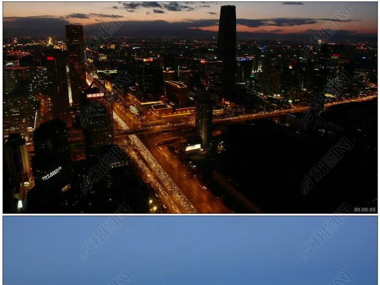 北京夜景全景白天到黑夜故宫景山公园北海公园天坛北工体颐和园风车河流湖泊