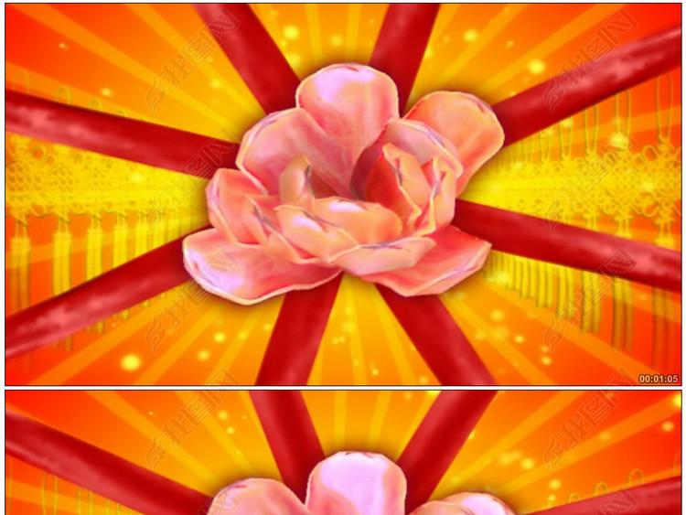 中国结红绸中国风喜庆节日