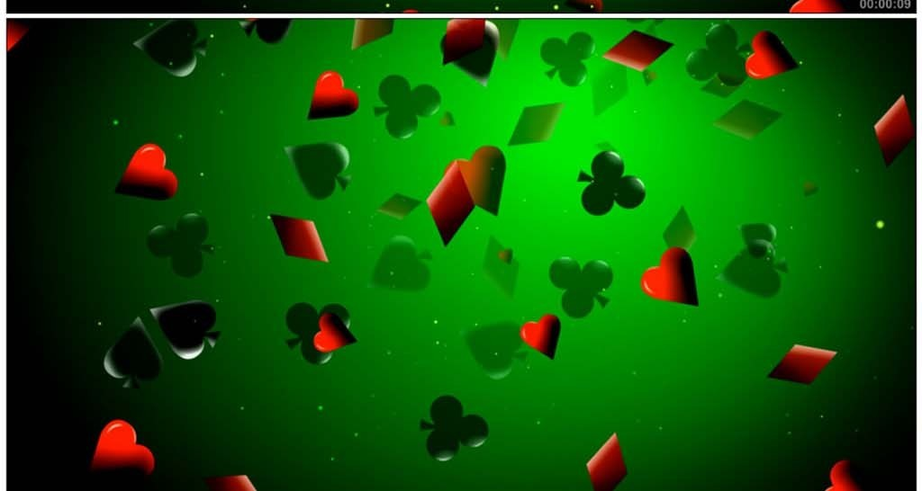 扑克片符号红桃黑桃方片梅花移动高清模板素材 MP4格式下载 视频120