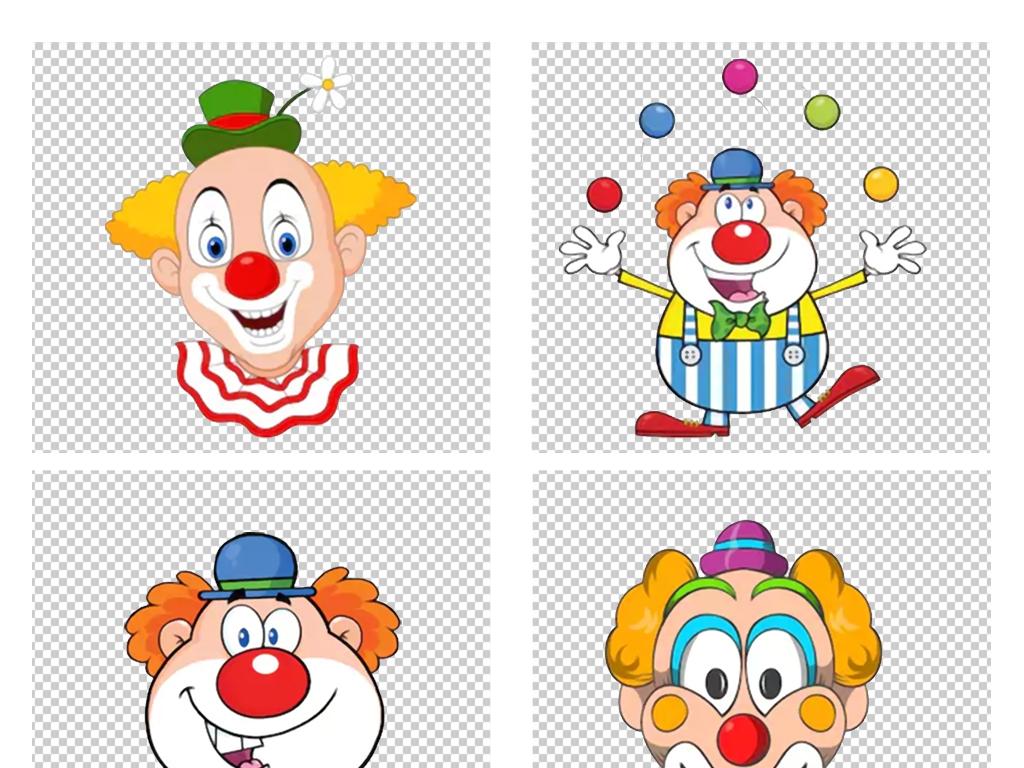 卡通手绘游乐园马戏团可爱玩球的小丑png