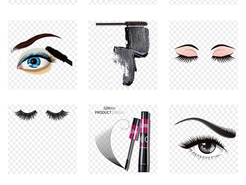 眼睫毛睫毛膏化妆品彩妆海报背景png素材
