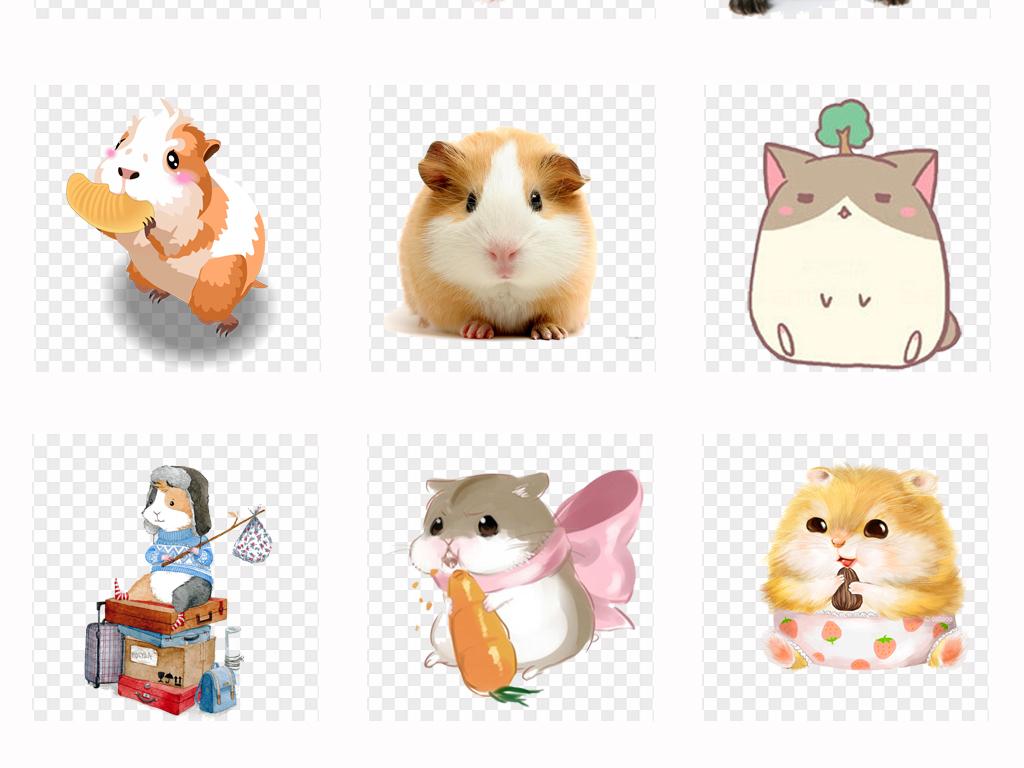 卡通可爱手绘仓鼠动物海鼠小仓鼠宠物海报png素材图片