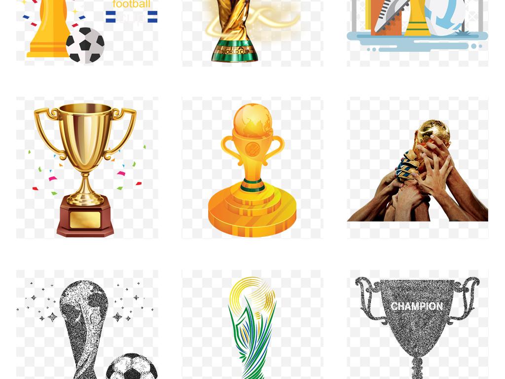 2018世界杯踢足球卡通大力神杯世界杯