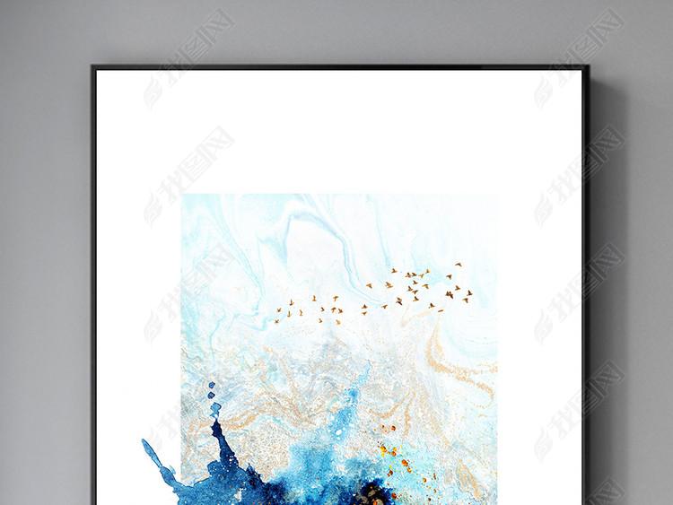 现代风格抽象手绘油画北欧装饰画