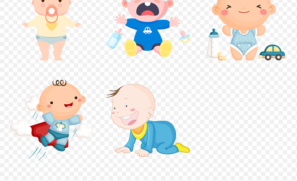 免扣元素 人物形象 动漫人物 > 手绘卡通婴儿小孩宝宝儿童海报素材