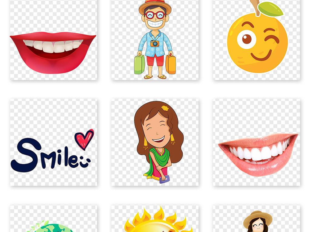 儿童微笑笑脸温馨可爱表情图片素材