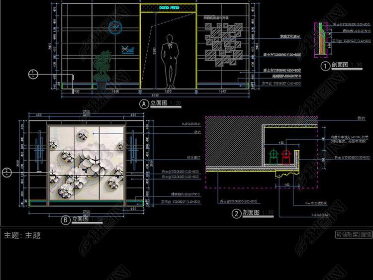 全套瓷砖展厅CAD施工图