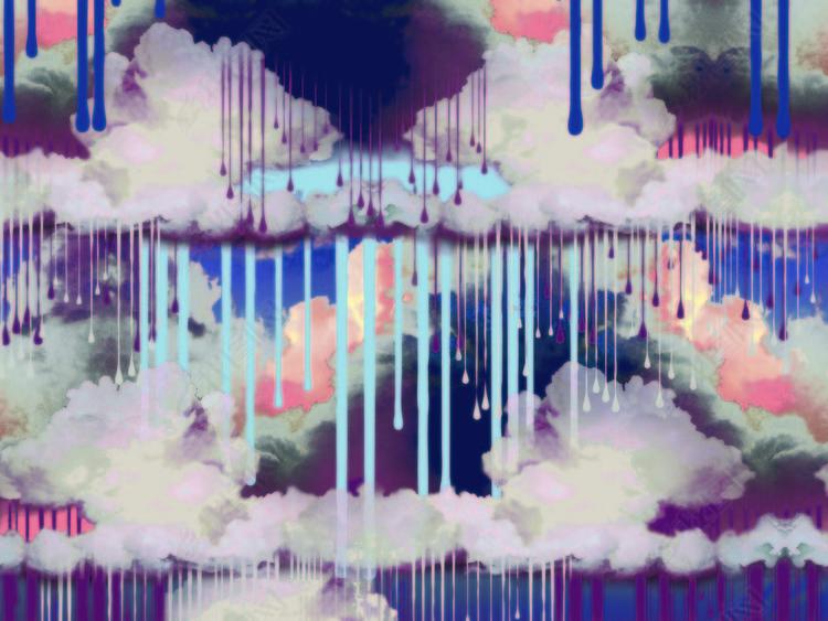 下油漆的天空40x40cm.psd