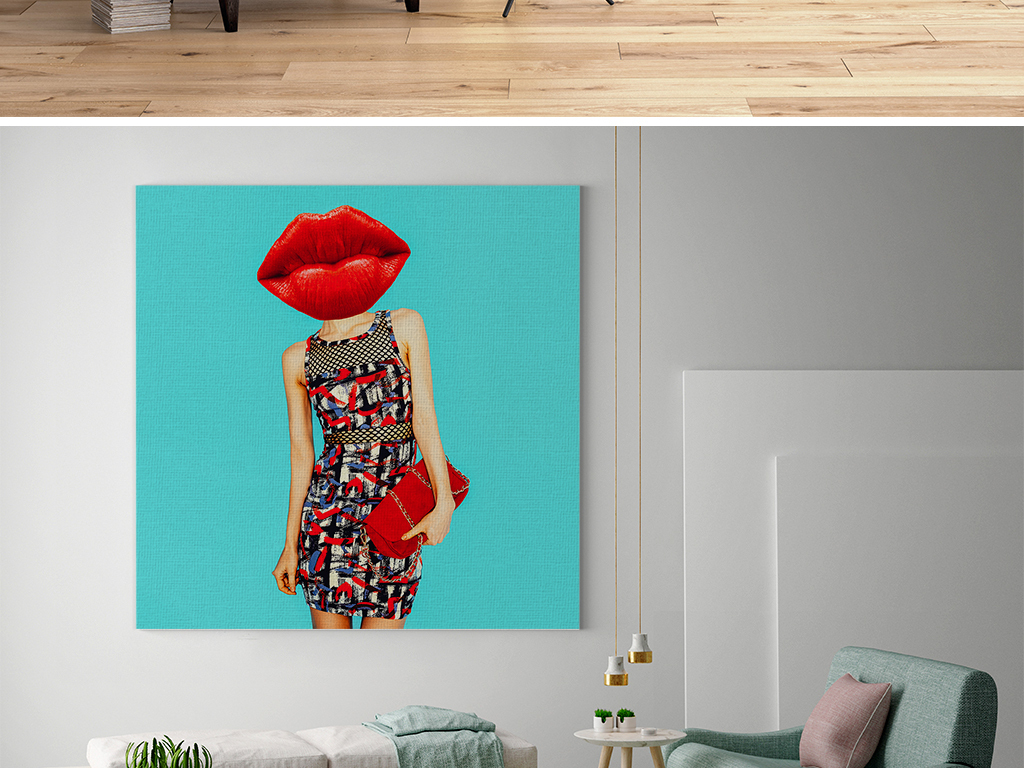 创意红唇时尚装饰画