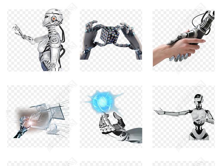 未来科技机械机器人机器手人工智能PNG免扣素材