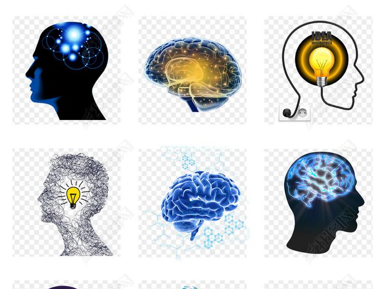 企业创意头脑风暴大脑创意思维人脑png商务素材