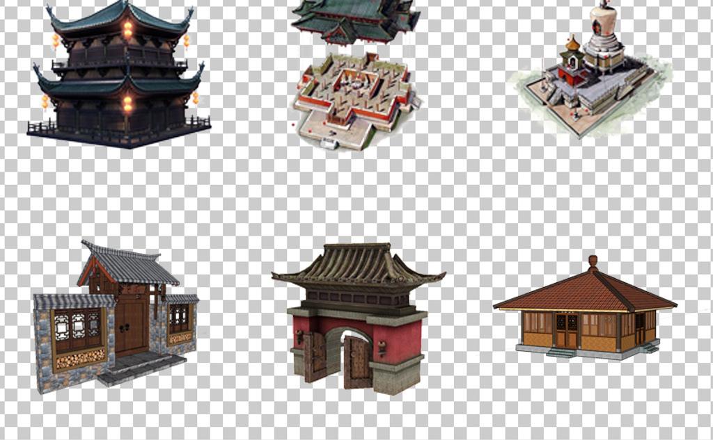 0755建筑古代建筑房屋中国古典建筑门头设计建筑免抠素材