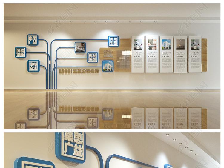 企业文化墙展厅照片墙公司员工风采效果图