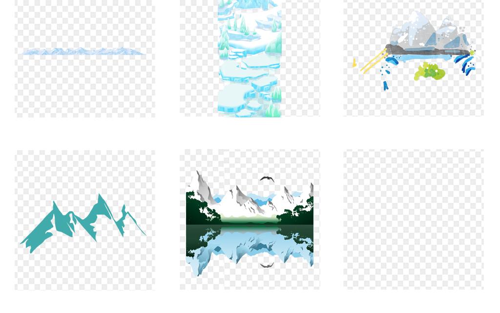 手绘卡通冰山冰块冰川海报背景png免扣素材