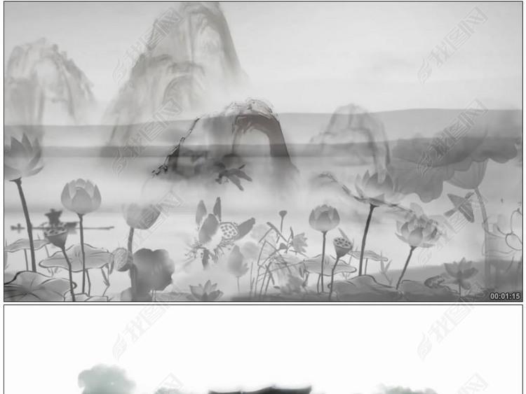 我的祖先叫炎黄中国水墨风背景素材