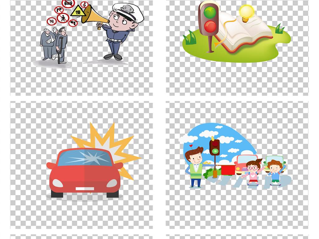交通安全宣传漫画交警警察png透明素材图片 psd模板下载 71.05MB