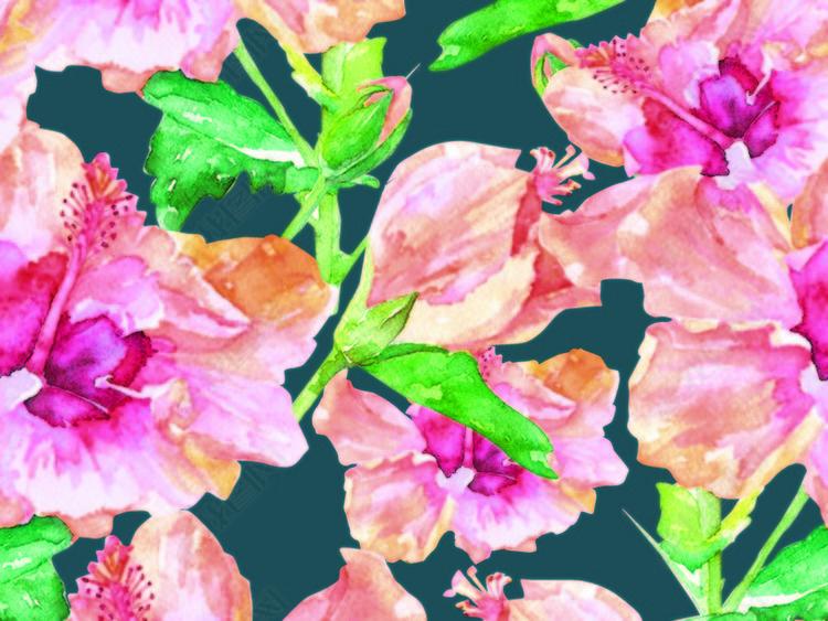 花朵图形排列图64X64cm.psd