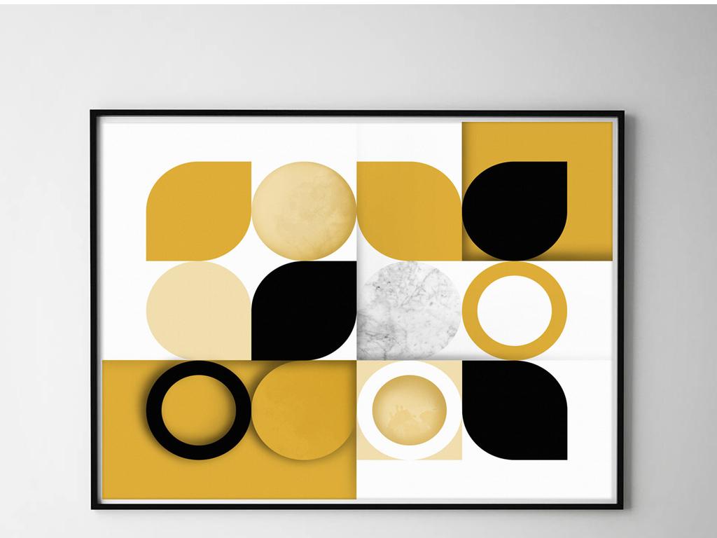 现代简约创意几何图案装饰画图片
