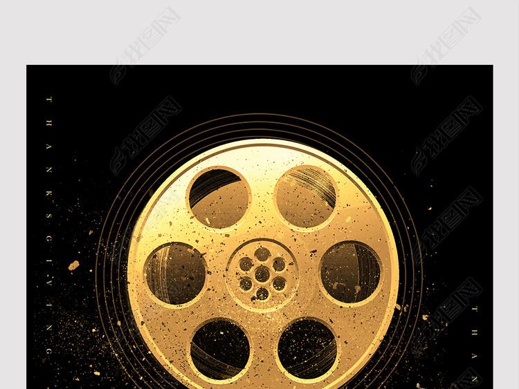 大气黑金上海国际电影节海报