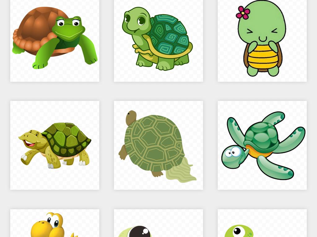 可爱卡通手绘乌龟海龟海洋生物动物png免扣素材图片