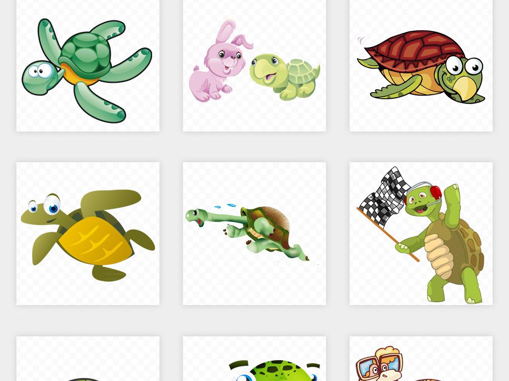 可爱卡通手绘乌龟海龟海洋生物动物png免扣素材