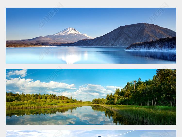 湖光山色湖泊山峰山峦山水风景高清摄影