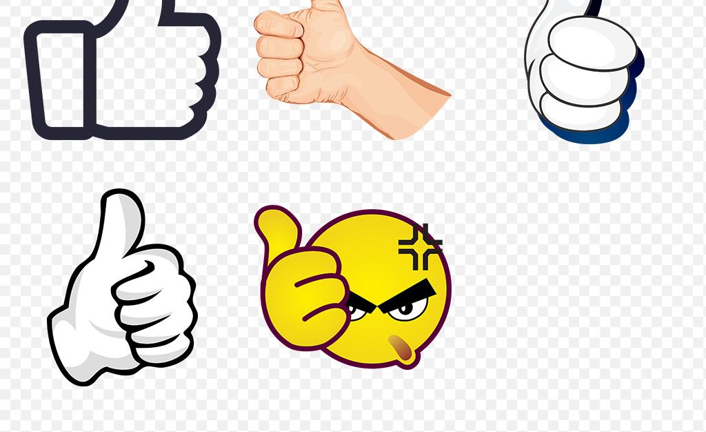 卡通大拇指点赞手势动作海报素材背景PNG图片 模板下载 15.84MB 手势大全 标志丨符号