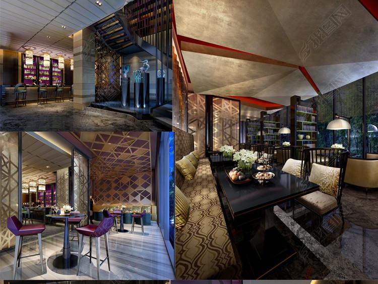 全套港式茶餐厅CAD施工图效果图