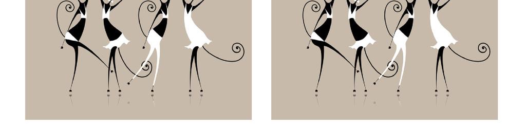 卡通猫黑白猫咪可爱动物表情女性优雅装饰