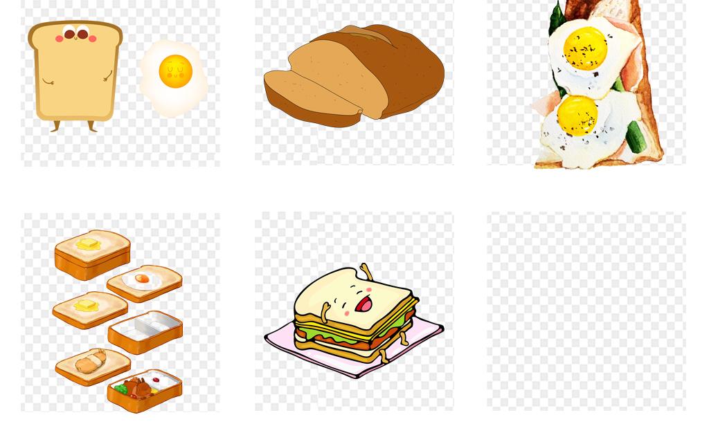 免抠元素 生活工作 食物饮品  > 手绘水彩方面包吐司西式面包烘焙png