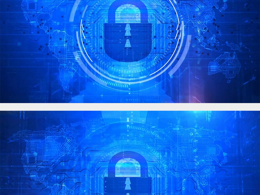 高科技人工智能电路蓝色地球背景