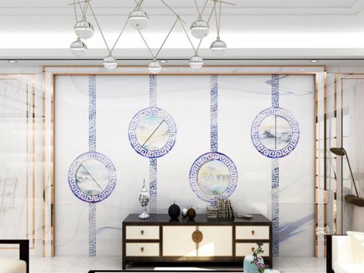 新中式石纹背景墙