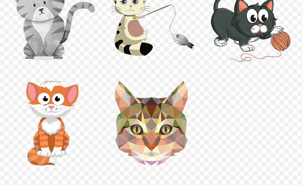 卡通猫可爱小猫咪海报素材背景png