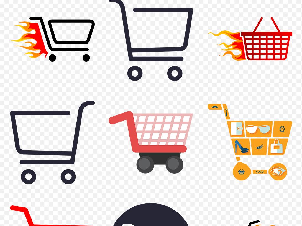 购物车png淘宝天猫购物卡通图标