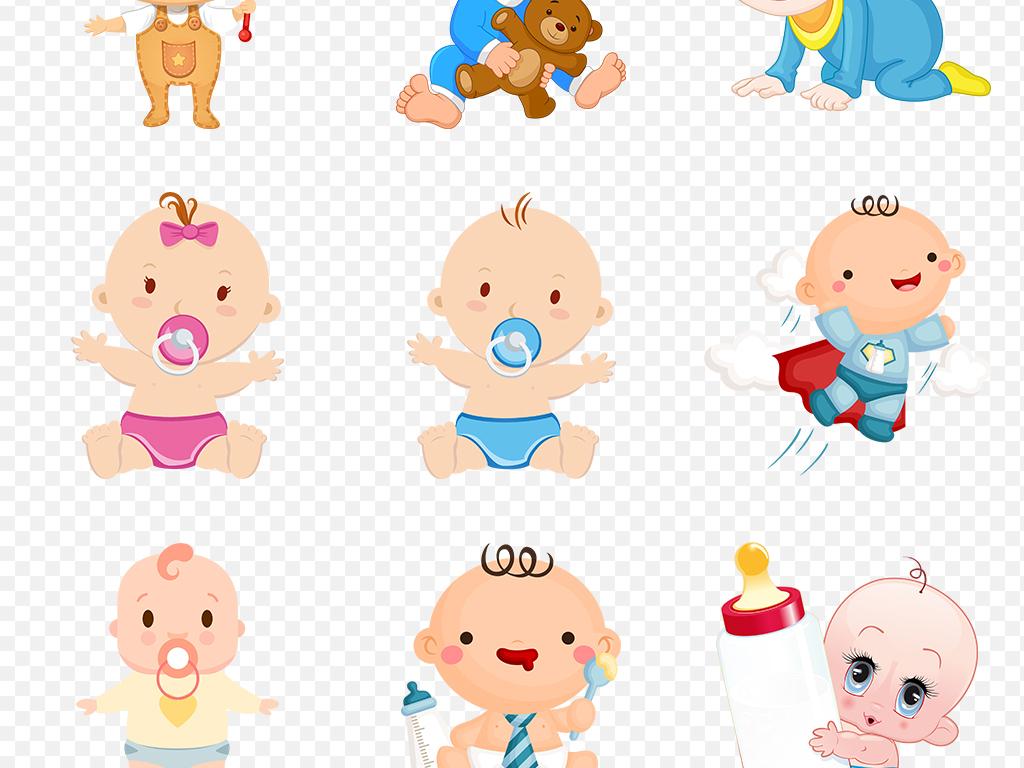 免抠元素 人物形象 动漫人物 > 手绘卡通婴儿小孩宝宝儿童海报素材