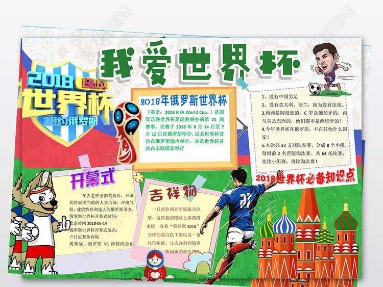 word世界杯小报2018俄罗斯开幕式足球体育手抄小报