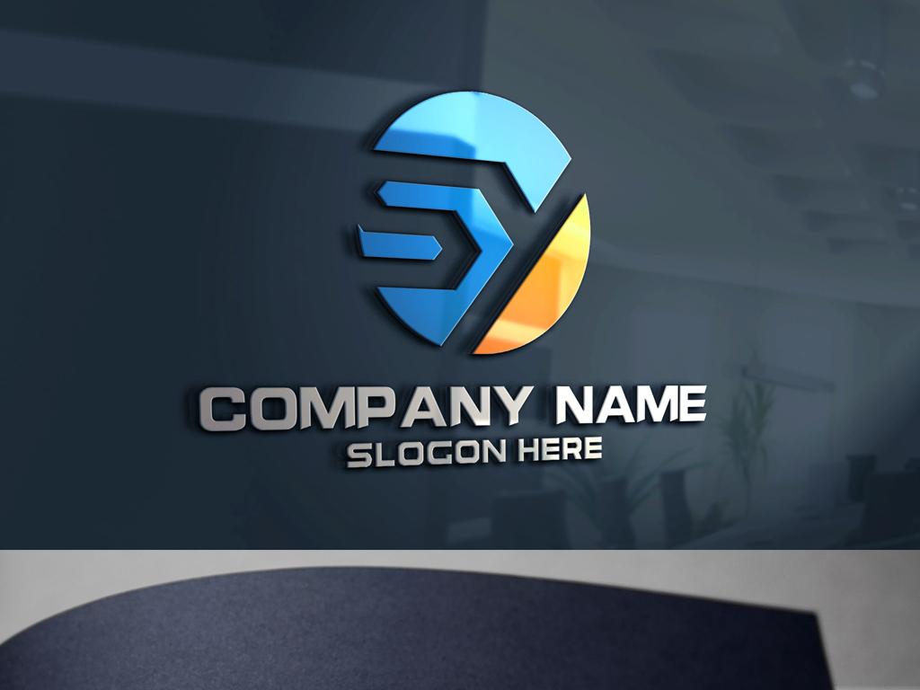 sy字母简约大气创意logo设计企业标志图片