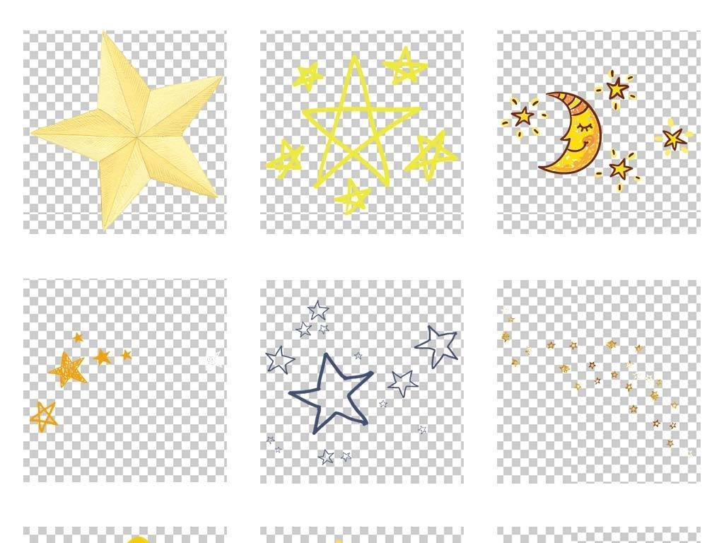 星星闪闪星星矢量图星星和月亮星星素材星星图片星星背景手绘卡通