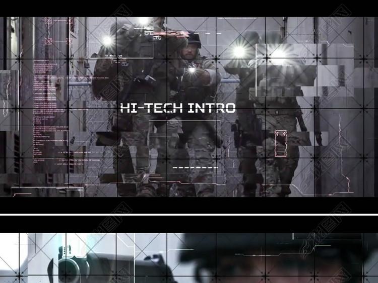军队部队训练宣传片模板