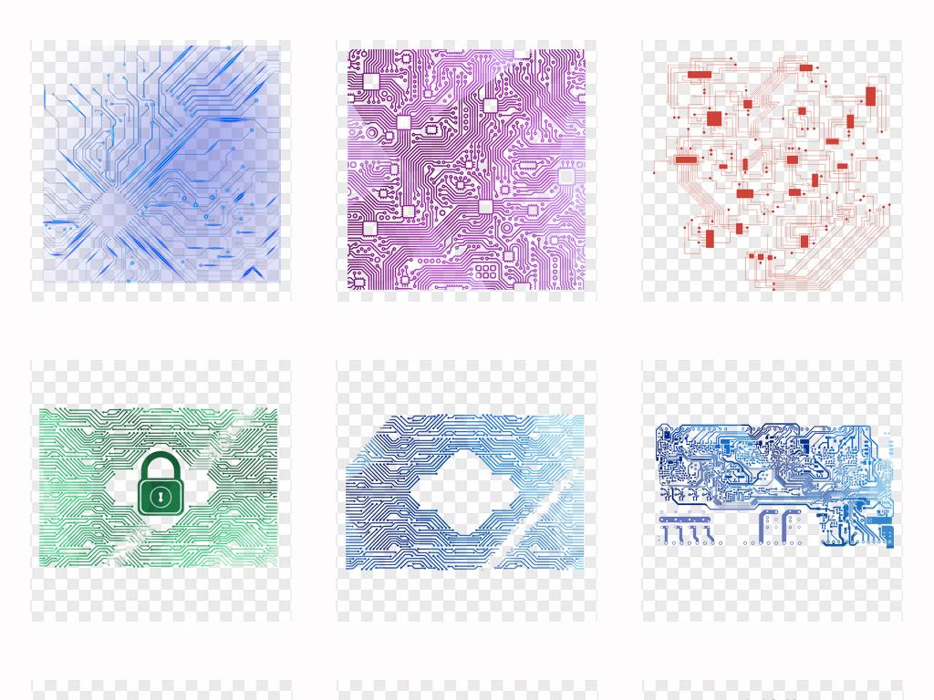蓝色纹理芯片电路电路科学电路板微电路电板纹路科技感科技树