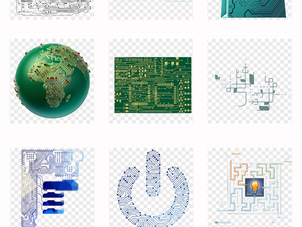 蓝色纹理芯片电路电路科学电路板微电路电板纹路科技感科技