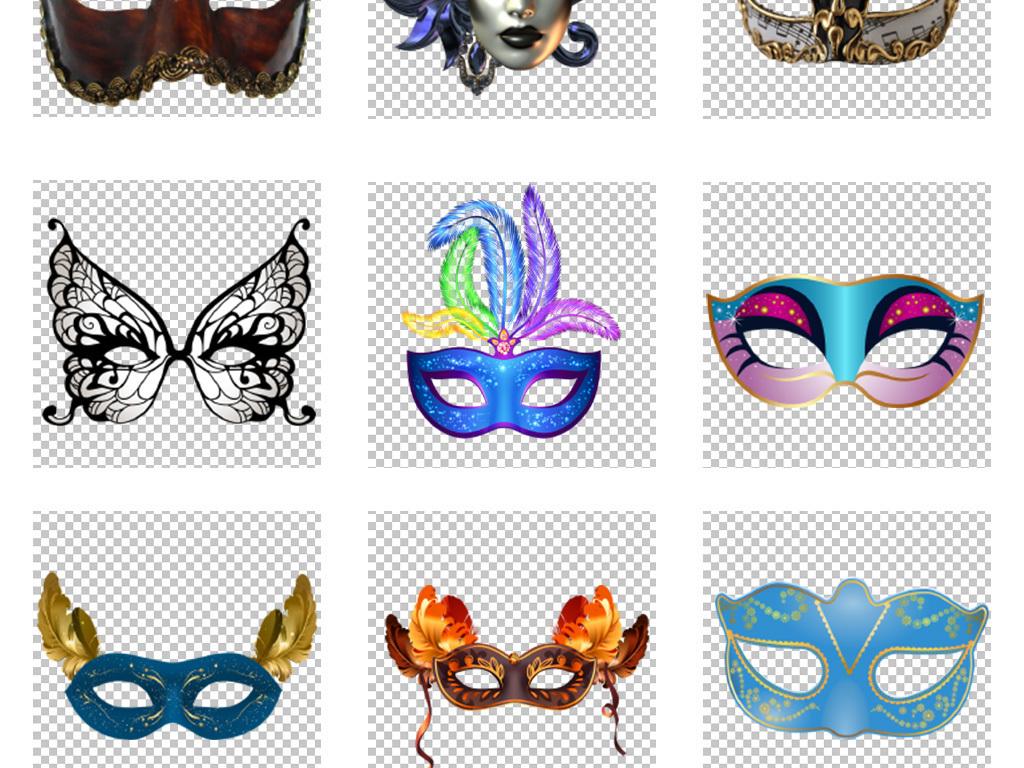 狂欢节万圣节面具png免扣素材图片 模板下载 67.46MB 其他大全