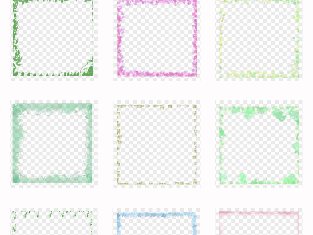 免抠元素 花纹边框 卡通手绘边框 > 可爱卡通小清新边框小报手抄报