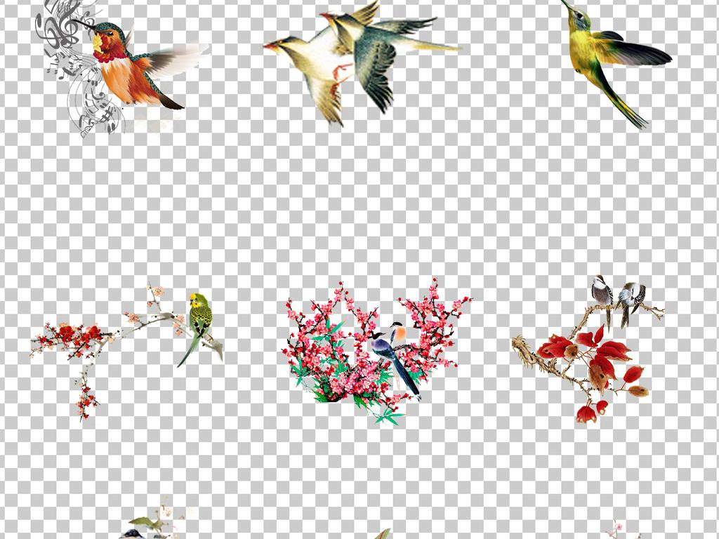 免抠元素 自然素材 动物 > 0920手绘水彩彩绘喜鹊水墨喜鹊鸟儿中国风