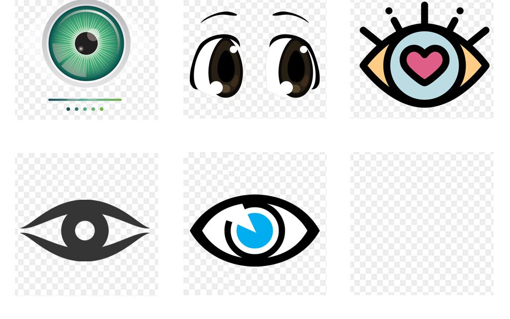 手绘水彩眼睛眼部特写眼睛图标png免扣素材