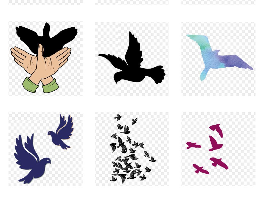 手绘水彩素材剪影飞翔剪影素材梦想飞翔梦想素材飞翔梦想飞翔素材一群