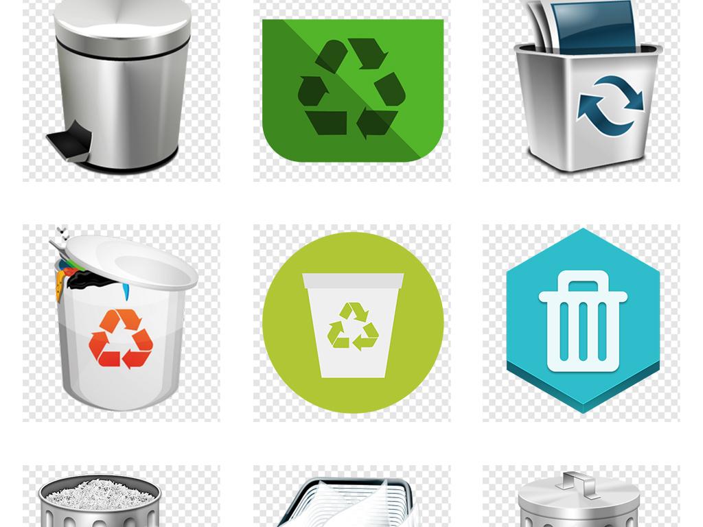 删除图标垃圾桶图标回收站图标循环图标