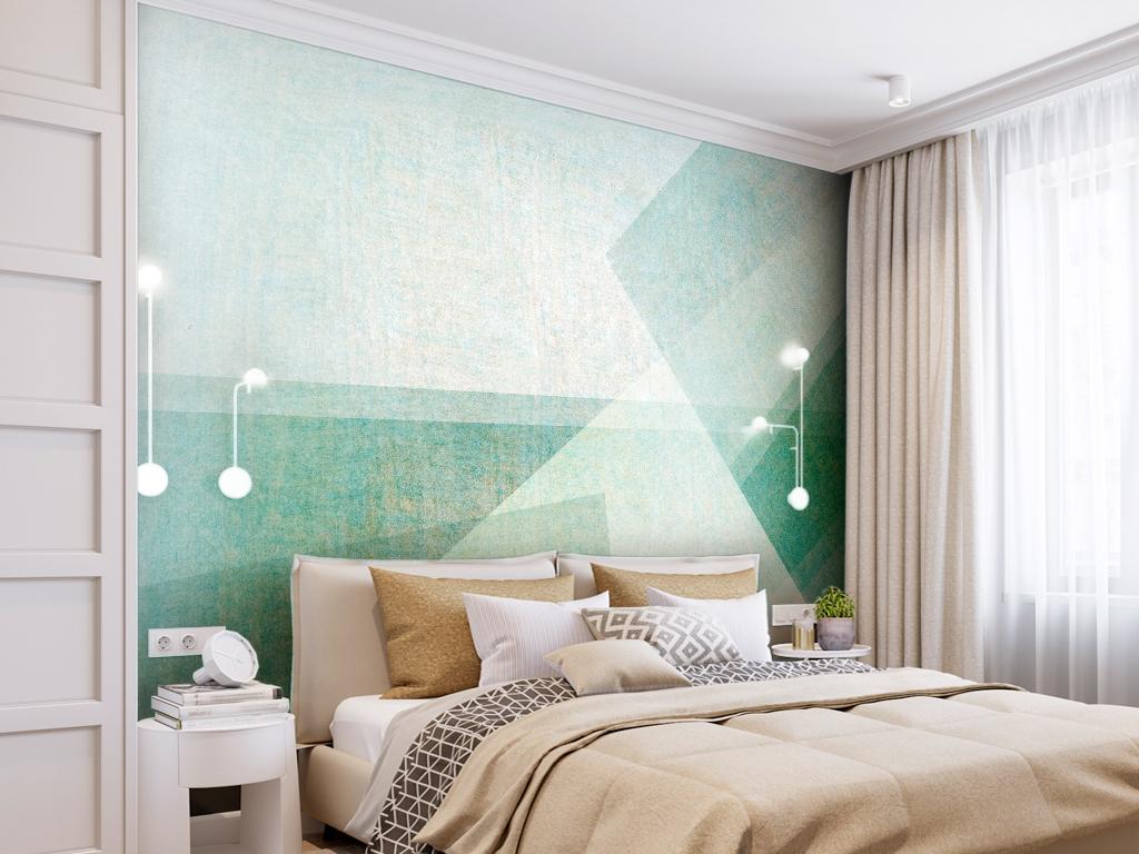 背景墙 电视背景墙 手绘电视背景墙 > 淡雅几何抽象背景墙手绘  素材